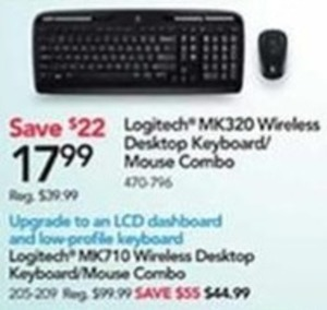 Logitech MK320 Wireless Desktop Keyboard/Mouse Combo