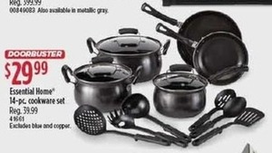 Essential Home 14-Piece Cookware Set