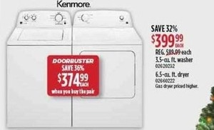 Kenmore Washer or Dryer
