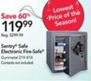 Sentry Safe Electronic Fire-Safe