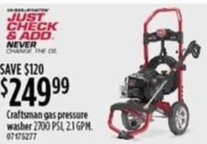 Craftsman Gas Pressure Washer