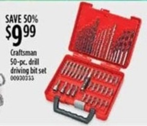 Craftsman 50-Piece Drill Driving Bit Set