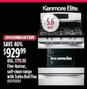 Kenmore Elite Five-Burner Stove-Top Oven