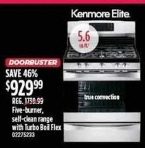 Kenmore Elite Five-Burner Stove-Top Oven