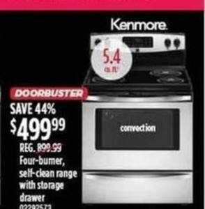 Kenmore Four-Burner Oven