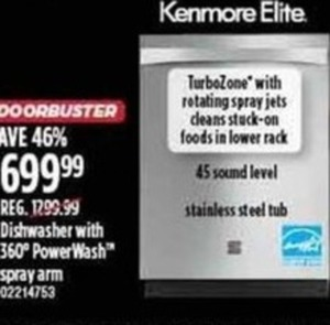 Kenmore Elite Stainless Steel Dishwasher