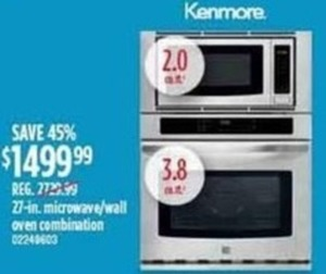 Kenmore 27-Inch Microwave/Wall