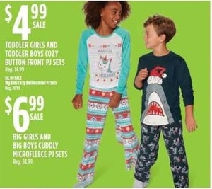 Big Kids' Cuddly Microfleece PJ Sets