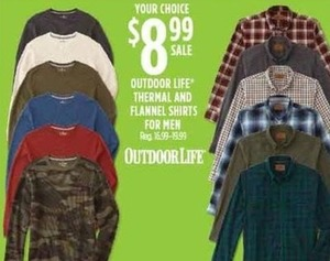Outdoor Life Thermal & Flannel Shirts