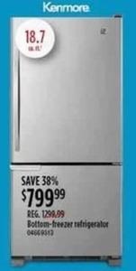 Kenmore Bottom-Freezer Refrigerator