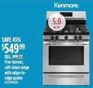 Kenmore Five-Burner Self Clean Range