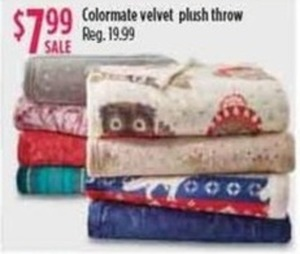 Colormate Velvet Plush Throw