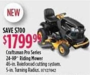 Craftsman Pro Series 24-HP Riding Mower