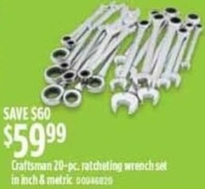 Craftsman 20-Piece Ratcheting Wrench Set