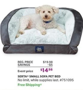 Serta Small Sofa Pet Bed