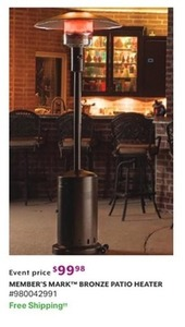 Members Mark Bronze Patio Heater