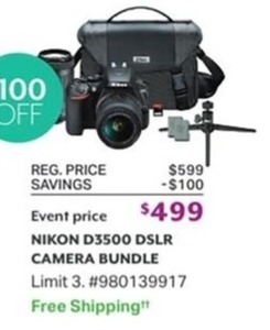 Nikon D3500 DSLR Camera Bundle