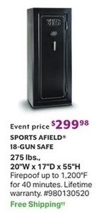 Sports Afield 18Gun Safe