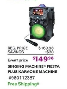 Singing Machine Fiesta Plus Karaoke Machine
