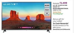 "LG 86"" Class 4K UHD Smart TV"