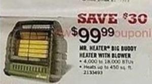 Mr. Heater Big BUddy Heater w/ Blower