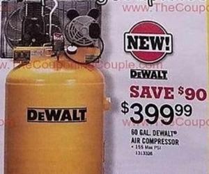 DeWalt 60. Gallon Air Compressor