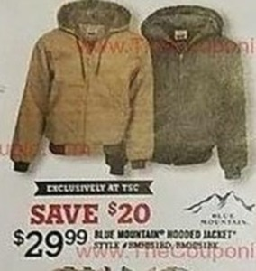 Blue Mountain Hooded Jacket