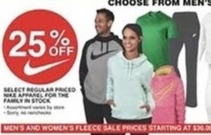 Select Regular Priced Nike Apparel for the Family