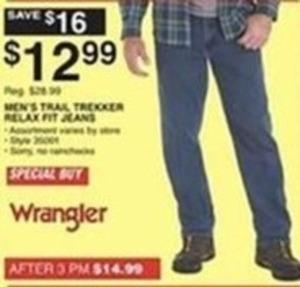 Men's Wrangler Trail Trekker Relax Fit Jeans