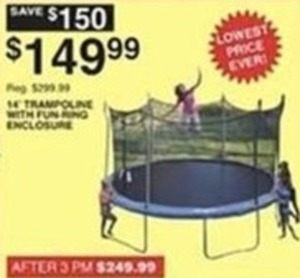 14' Trampoline w/ Fun Ring Enclosure