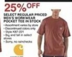 Select Regular Priced Men's Workwear Pocket Tee