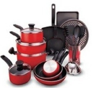 T-Fal 20pc Cookware Set