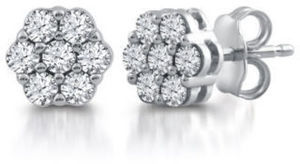 1/2 CT. T.W. Diamond Earrings