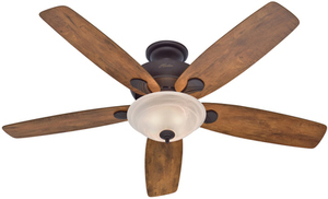 Hunter Regalia 60-in New Bronze Indoor Downrod Or Close Mount Ceiling Fan with Light Kit
