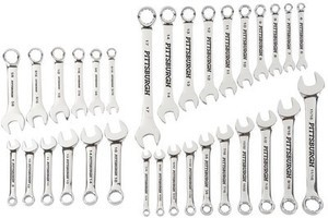 32 Pc Fully Polished SAE & Metric Combination Wrench Set