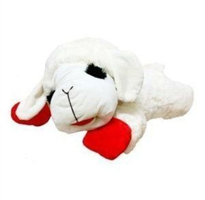 "24"" Jumbo Lamb Chop Plush Dog Toy"