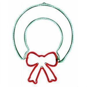 Holiday Wonderland Neon Flex Wreath