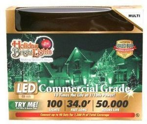 Christmas LED Light Set, C6, Commercial-Grade, Multi, 100-Ct.