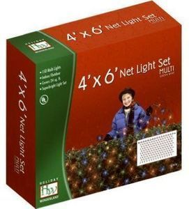Holiday Wonderland Christmas Net Light Set, Multi-Color, 150-Ct., 4 x 6-Ft.