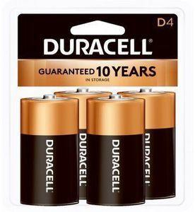 Duracell Alkaline Batteries, D, 4-Pk.