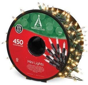 Holiday Wonderland Christmas Light Set, Mini, Clear, 450-Ct. Reel