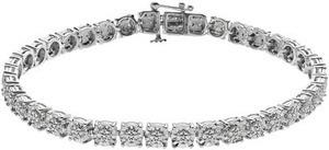 Sterling Silver 1/4 Ct. T.W. Diamond Bracelet