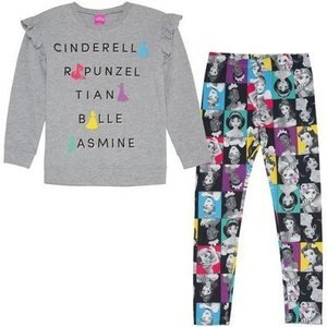 Ruffle Sleeve Top and Legging, 2-Piece Outfit Set (Little Girls & Big Girls)