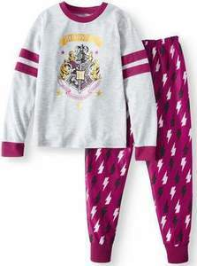 Harry Potter Girls' Poly 2-Piece Pajama Sleep Set Girls Harry Potter' Poly 2-Piece Pajama Sleep Set