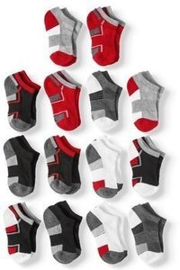 Half Cushion No Show Socks, 12 + 2 Bonus Pack (Little Boys & Big Boys)